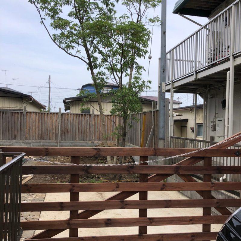 造園西山 施工事例 神奈川県高座郡寒川S邸施工途中